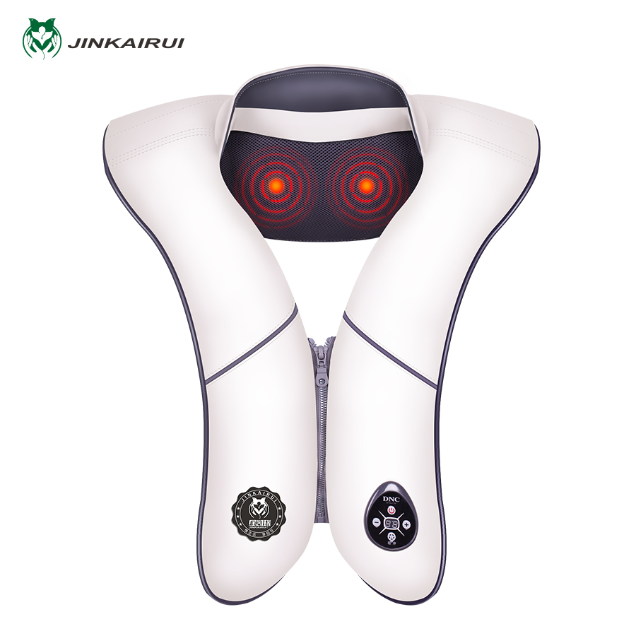 JinKaiRui Electronic Massage Shawl Cervical Vertebra Massagem Deep-Vibration Heated Massage Wrap Knock Back Massage Relax Device