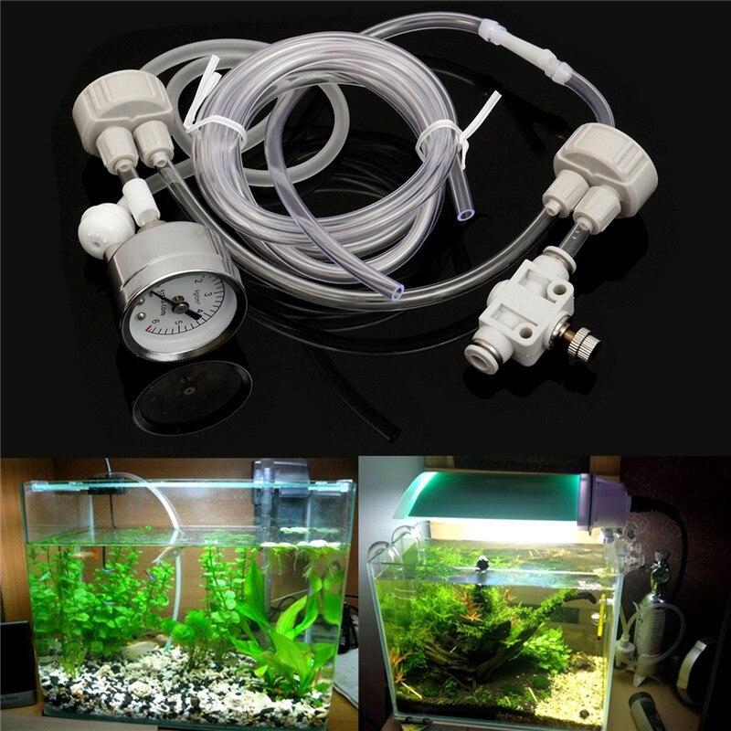 Aquarium DIY CO2 Generator System Kit mit Druck Luftstrom Einstellung Wasser Pflanze Aquarium Aquarium Co2 Ventil