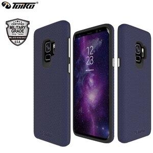 Image 1 - TOIKO X Guard 2 w 1 etui na telefony do Samsung Galaxy S9 odporny na wstrząsy twardy PC miękki TPU zderzak Shell Cover ochronny hybrydowy pancerz