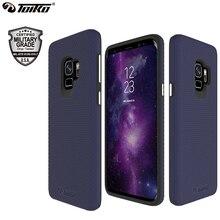 TOIKO X koruma 2 in 1 telefon kılıfları için Samsung Galaxy S9 darbeye dayanıklı sert PC yumuşak TPU tampon kabuk kapak koruyucu hibrid zırh