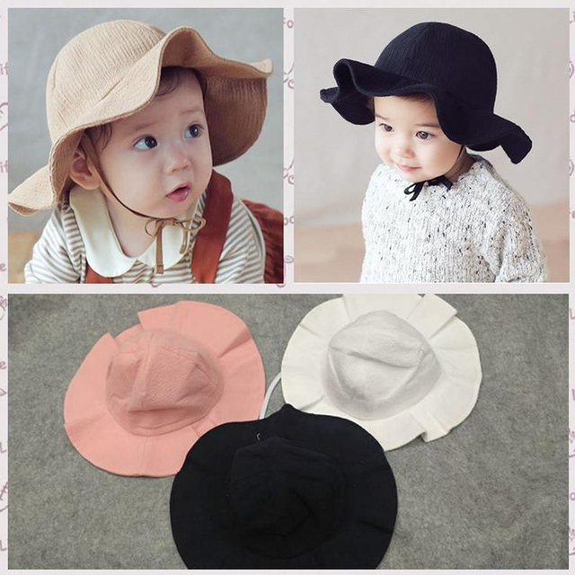 3302508a9d7 Baby Girls Summer Cotton Sun Hat Infant Children Newborn Boys Beach Hat Sun  Protection Fisherman Cap For 6-36 Months Baby XL713. 1 order