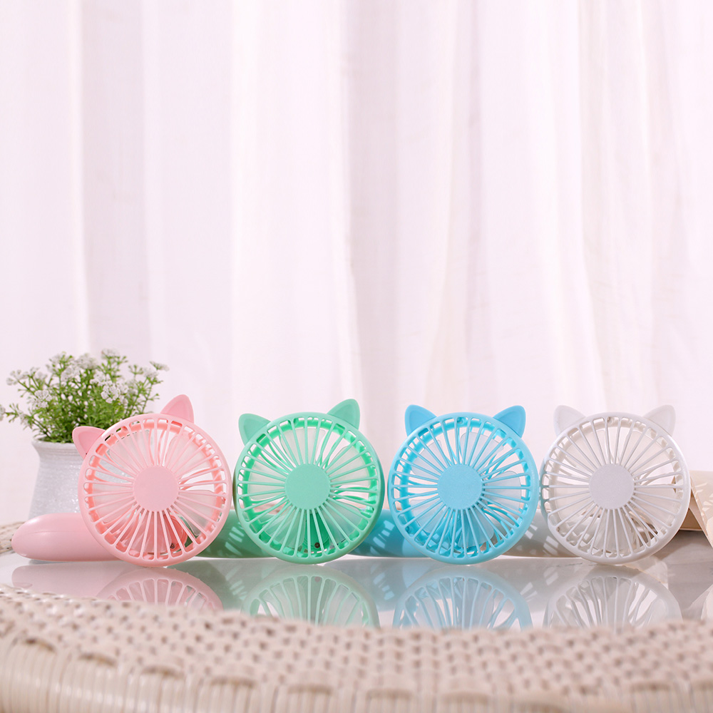 Cute Totoro/Cat Rotatable Handhold Fan Outdoor Portable Rechargeable Summer USB Fan 2 Type 4 Colors