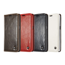 Luxury Leather Phone Cases for Samsung Galaxy S8 S7 S6 Edge S9 Plus S5 Mini S4 Note 8 5 4 Magnetic Flip Cover S8Plus Wallet Bags