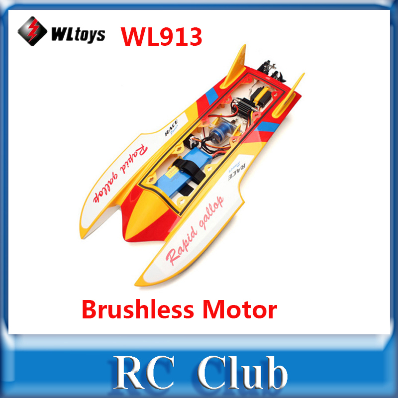 Original WLtoys WL913 RC Boat With Brushless  motor  Water Cooling High Speed Racing RC Boat RTF 2.4GHz