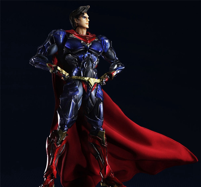 Play Arts Kai Super Man ARMOR NO 6 Superman DC Figure SuperGIRL Justice League PA 26cm PVC Action Figure Doll Toys Kids Gift free shipping 10 pa kai batman v superman dawn of justice super man boxed 25cm pvc action figure collection model doll toy gift