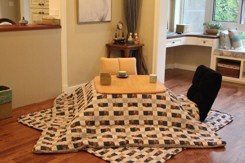 (2pcs/set) Square Squilt Japanese Futon Top & Bottom Set Comforter For Kotatsu Table Mattress&Table Cover Foot Warmer Quilt
