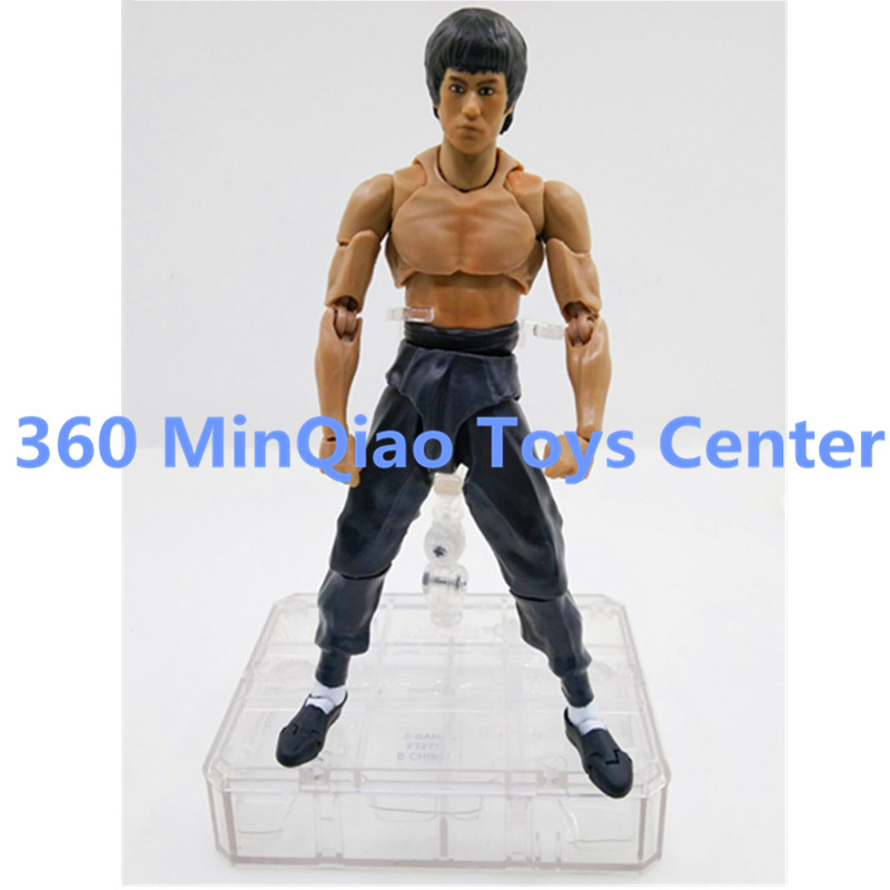 ФОТО SHFiguarts Bruce Lee WSLE-S BODY PVC Action Figure Collectible Model Toy 15cm RETAIL BOX WU893