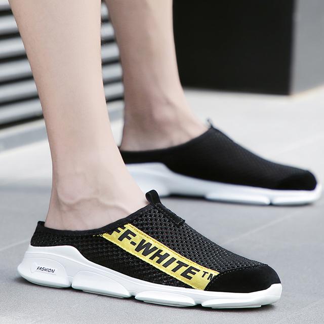 2018 plus size 39-46 Men Casual Sandals Summer Breathable Mesh Slipper outdoor men Slippers men Beach Slippers
