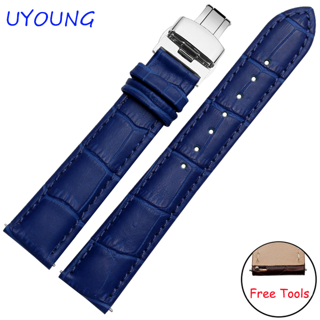 7c95b5042a247 Quality genuine leather watchband 18mm replacement leather watch strap  quick release For Fossil Q Nate/Tailor