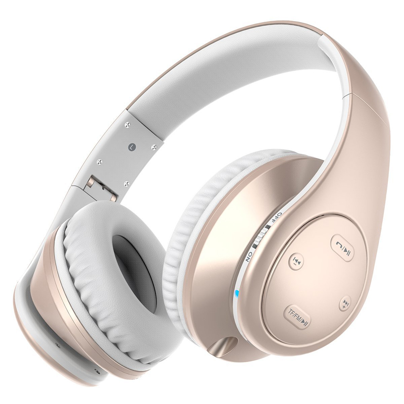 wireless Bluetooth headphone white gold stereo headset Bluetooth 4.1 music headset over the earphone with mic for xiaomi