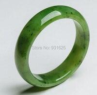Красивый естественный натуральная зеленый Хотан Yu браслет повелительницы подарок ювелирные изделия + сертификат + коробка 58 62 мм