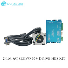 купить Leadshine 300W Closed Loop 3-phase Hybrid Servo Drive Kit HBS507 Drive + 573HBM20-1000 Motor дешево