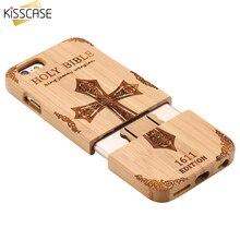 Kisscase для iPhone 6 6 S плюс 5 5S SE жесткий чехол Bamboo деревянная крышка телефона для iPhone 6 6 s задняя крышка Coque shell