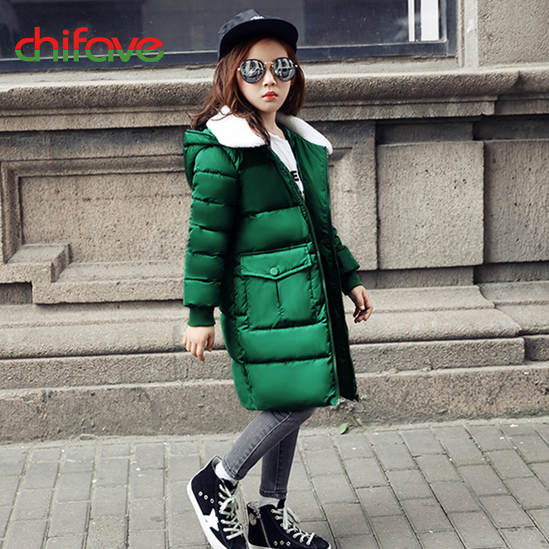 chifave New Baby Girls Coats Winter Cotton Warm Jacket Hooded Parkas Children Girls Clothes Jacket For Kids Top Fashion Outwear 2017 winter children cotton padded parkas clothes baby girls
