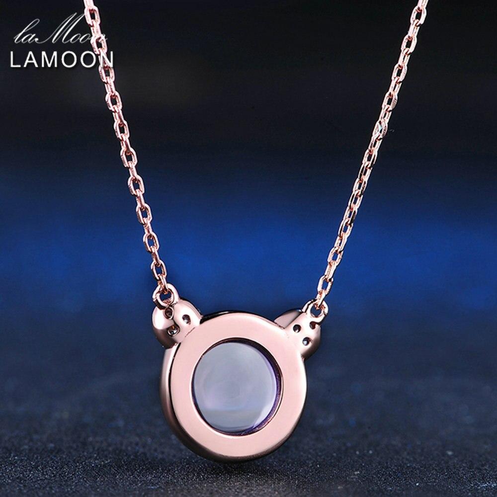LAMOON Schöne Rosa Bär Halskette & Anhänger Für Frauen 4.8ct - Edlen Schmuck - Foto 5