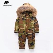 Orangemom الأطفال ملابس الشتاء الدافئة ملابس خارجية و معاطف بطة مقاوم للماء الثلوج ارتداء ملابس خارجية الشتاء سترة لصبي الاطفال معاطف