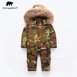 Image 1 - Orangemom ילדי חורף בגדים חמים הלבשה עליונה & מעילי ברווז עמיד למים שלג ללבוש הלבשה עליונה חורף מעיל לילדים ילד מעילים
