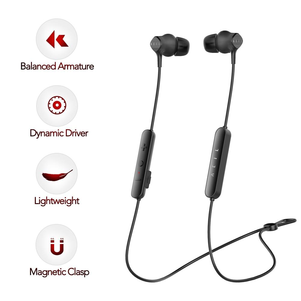 New Arrival Acil H1 Super Light Wireless Bluetooth In-ear Earphone Smart Magnet Konwles Balanced Armature Sport Headset