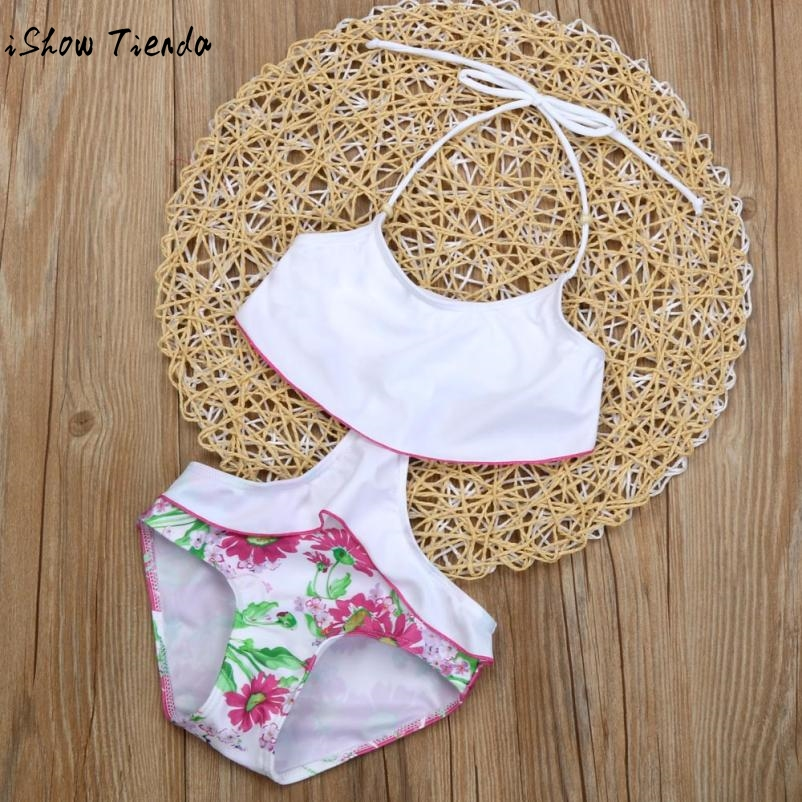 Drop Shipping Junior Girls Swimsuit Toddler Kids Baby Girls Tankini Bikini Swimwear Swimsuit Bathing Suit Beachwear Bikiny