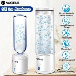 AUGIENB 300ml SPE PEM botella de agua de hidrógeno ionizador generador de energía taza libre de BPA saludable Anti-envejecimiento regalo recargable