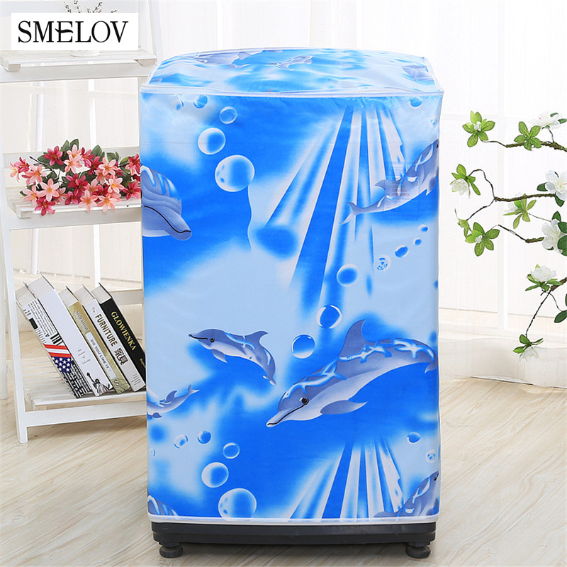 Washing Machine Cover Waterproof Sunscreen Case Top Loading Washing Machine Protective Dust  Covers Household Merchandises
