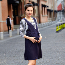 Spring Autumn Style Maternity Dresses Clothing for Pregnancy Clothes for Pregnant Women Cotton Gravida Wear 2016 New Fashion B81