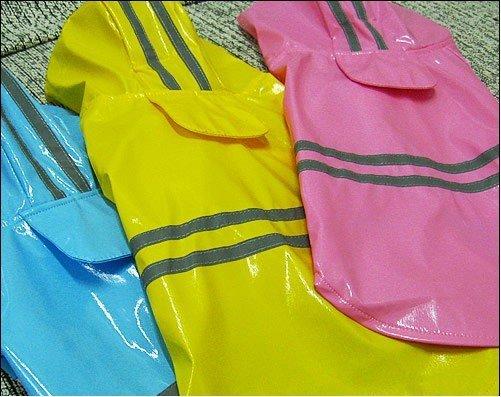dog clothes, MOQ=1,pet apparel,pet products,pet rain coat,5size,pink/blue,Reflective stripe