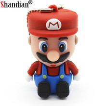 SHANDIAN Super Mario USB Flash Drive 4GB 8GB 16GB 32GB Pendrive Memory Stick Pen Drive