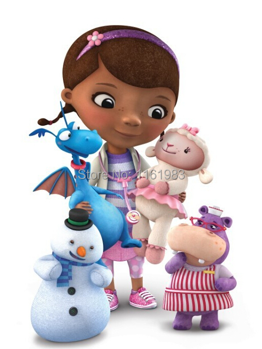 5pcs/lot Cartoon Plush Toys Doc McStuffins Plush Doll 32cm+Stuffy 25cm+Chilly 19cm+Hallie 25cm+Lambie 25cm Plush Toys