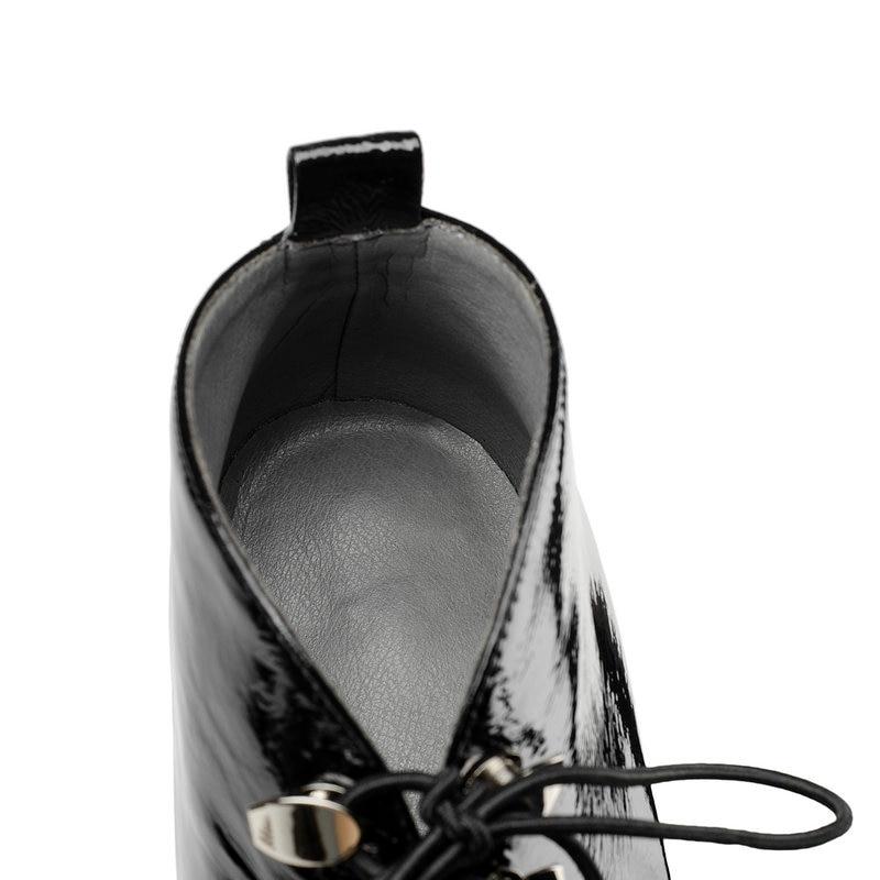 Cuir Bottes Dames Carré Talons Nemaone Up Taille De Faible Femmes Dentelle 43 Chaussures Bout noir Apricot Mode En Véritable Grande Cheville 3 Cm 5qqgtwa