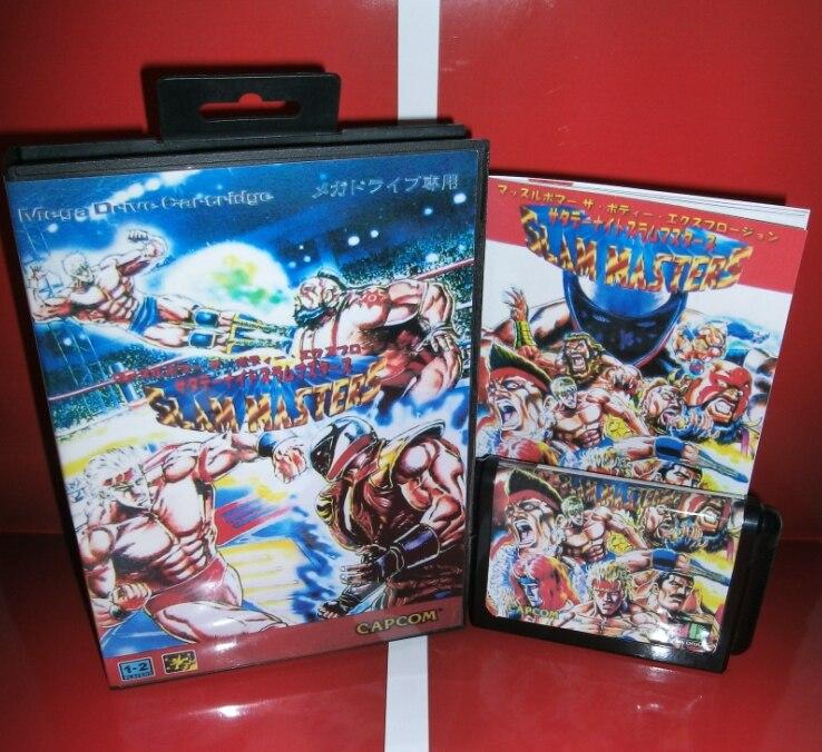 Juegos de Sega tarjeta de Saturday Night Slam de Maestros con Caja y Manual para
