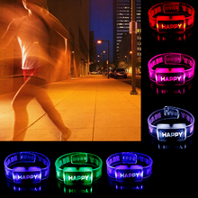 Toy Watch Bracelet Happy Rave Led-Lighting-Up Luminous-Flashing Festival Children