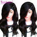 100% Virgin Peruvian Left Part U Part Wig Body Wave Natural Color 130 Density Wavy Upart Wig Human Hair In Stock Free Shipping