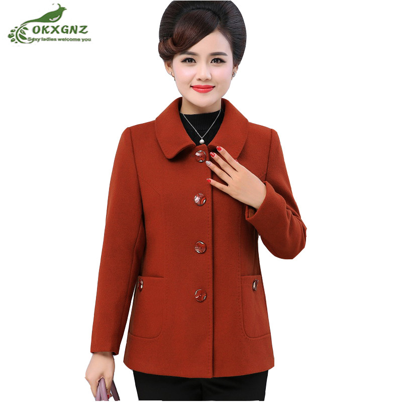 High quality spring jacket female autumn new fashion plus size short paragraph casual long sleeved woolen
