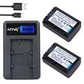 2 unids np-fv50 np fv50 batería de la cámara + lcd usb cargador para sony HDR CX390 290E PJ510 820E 790E 660E XR260 CX700E PJ50E 30E SR68