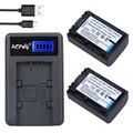 2Pcs NP-FV50 NP FV50 Camera Battery + LCD USB Charger for SONY HDR CX390 290E PJ510 820E 790E 660E XR260 CX700E PJ50E 30E SR68