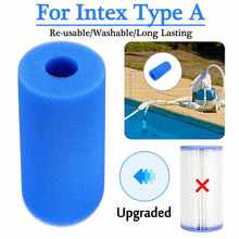 3 размера фильтр для плавательного бассейна пены Многоразовые моющиеся губки картридж пены подходит пузырьков Jetted Pure SPA для Intex A H S1 Тип
