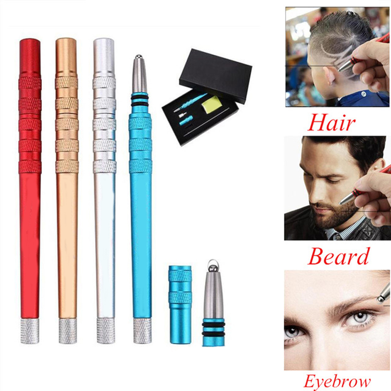 New upgrade Tattoo barber Hair magic Engrave Razor Pen for Eyebrows Beards Shaving Salon DIY Blades Hair Styling carve scissors