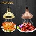Тепловая лампа 250 Вт электрическая лампа для обогрева пищи сохранение тепла подвесной светильник Регулируемый Кухонный Светильник для рес...