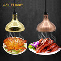 Тепловая лампа 250 Вт электрическая лампа для обогрева пищи сохранение тепла подвесной светильник регулируемые кухонные часы с кварцевым ме...