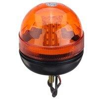 NEW LED Rotating Flashing Amber Beacon Flexible 1 Bolt Tractor Warning Light 9 30V Traffic Light Roadway