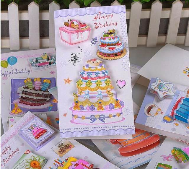 Online Shop 3d Handcrafted Origami Birthday Cake Candle Design
