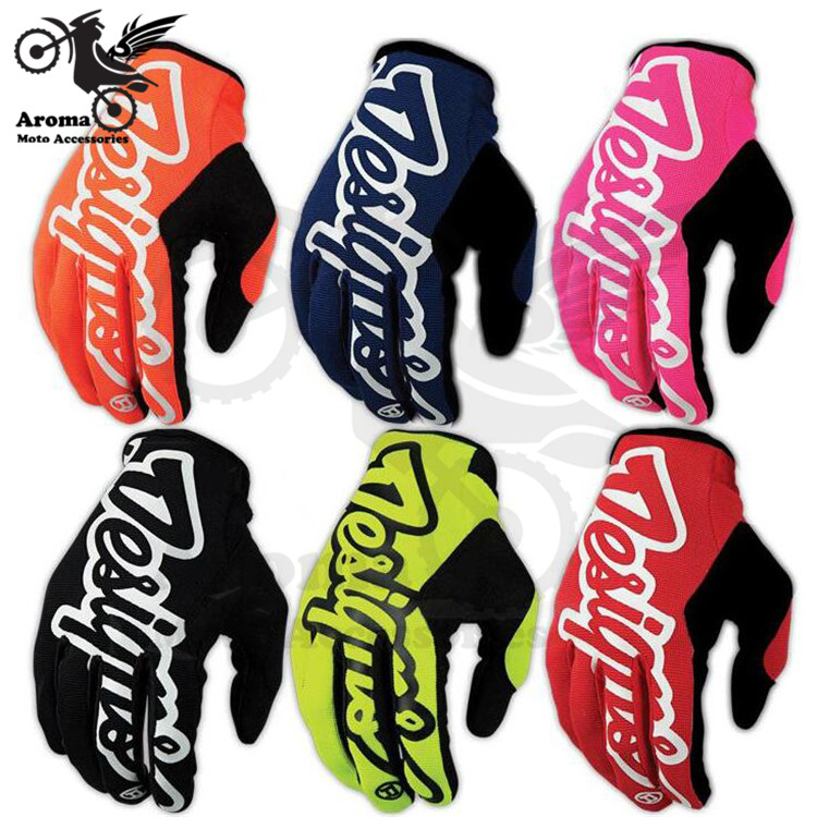colorful motocross racing glove motorbike Dirt Bike Bicycle cycling part ATV luvas guantes moto accessories motorcycle Gloves