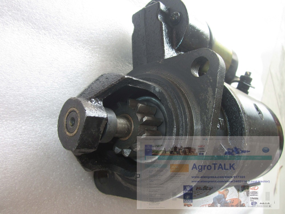 Lenar 254 tractor parts, the starter motor for Fengshou engine NJ385, Part number:160.48.107