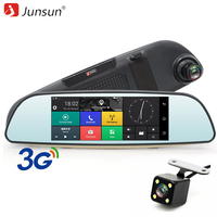 Junsun 6 86 Android 5 0 Car DVR GPS Navigation 3G Rearview Mirror Dual Lens Wifi