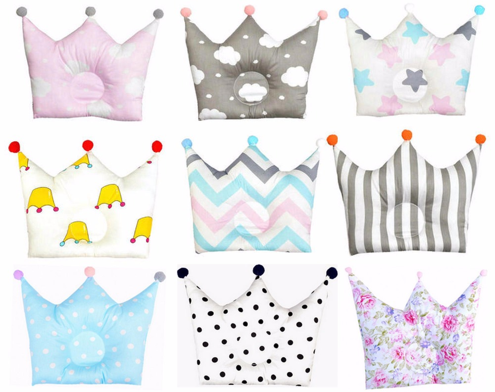 Baby Shaping Pillow Prevent Flat Head Infants Crown Dot Bedding Pillows Newborn Boy Girl Room Decoration Accessories