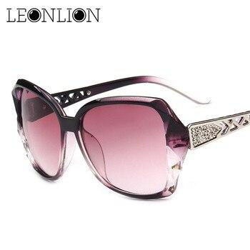 LeonLion 2019 Vintage Big Frame Sunglasses Women Brand Designer Gradient Lens Driving Sun glasses UV400 Oculos De Sol Feminino