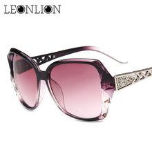 12f1b24df4 LeonLion 2018 Vintage Big Frame Sunglasses Women Brand Designer Gradient  Lens Driving Sun glasses UV400 Oculos De Sol Feminino