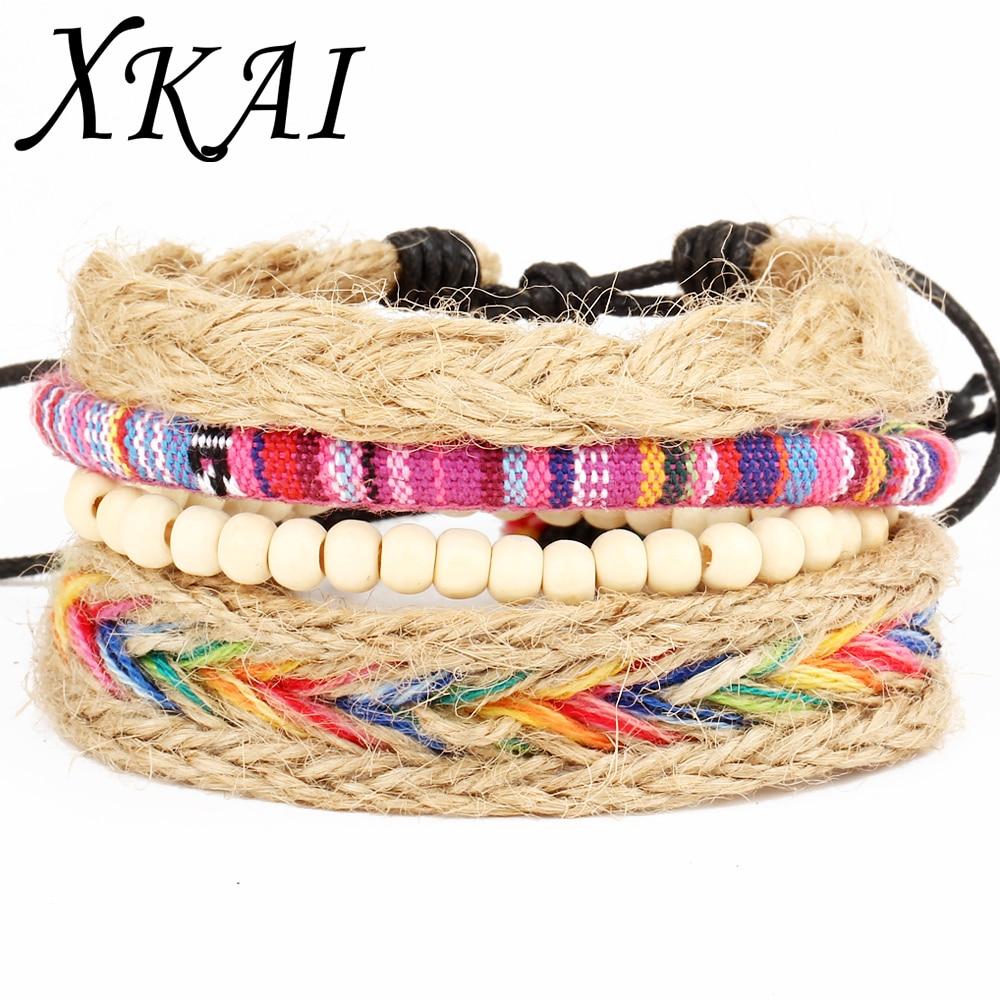 Xkai Er Vintage Tribal Bohemian Feather Bracelet Boho Silver Alloy Leaf  Bracelet Cuff Men Leather Braclet