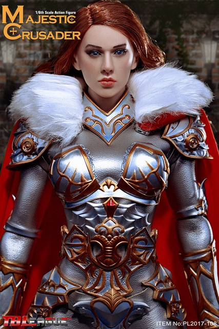 1/6 PL2017-108 Majestic Crusader Female Knight Action Figure for Collection Gifts Toys